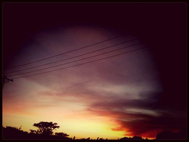 sweet sun sets Warm Evening