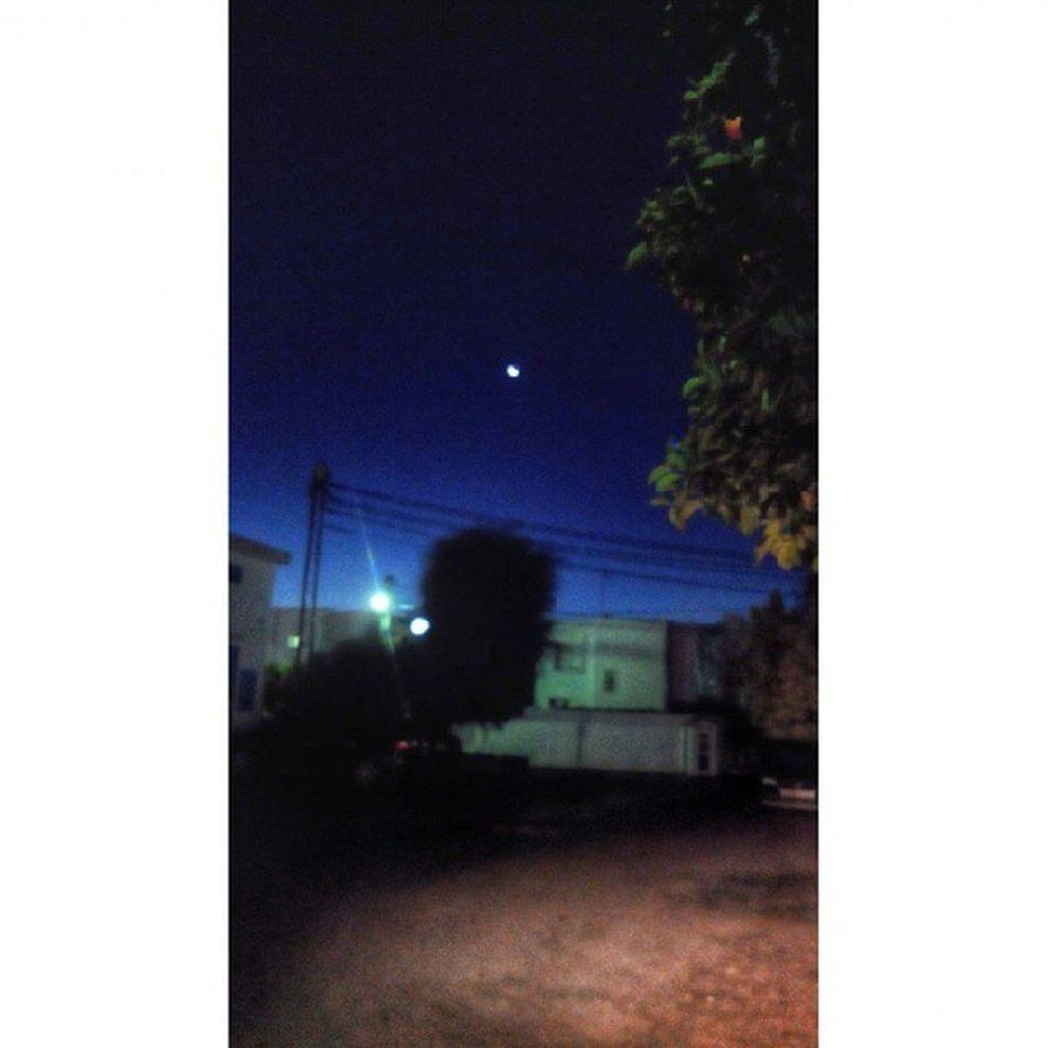 هذا الصباح يرافقني القمر فينير دربي ... يصاحبني فيخفف وحدتي .. صباح_الخير جمعة_مباركة شتاء ديسمبر