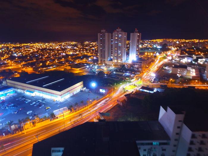 Flying High Cityscape City Night Illuminated Street