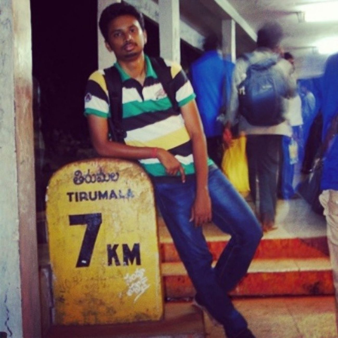 Great_trip Unforgettable Days  Trekking to meet lord_venki tirupati tirumala Andhra_Pradesh tagsforlikes posing tamilswag tamilpaiyan click by @rsvijayashankar