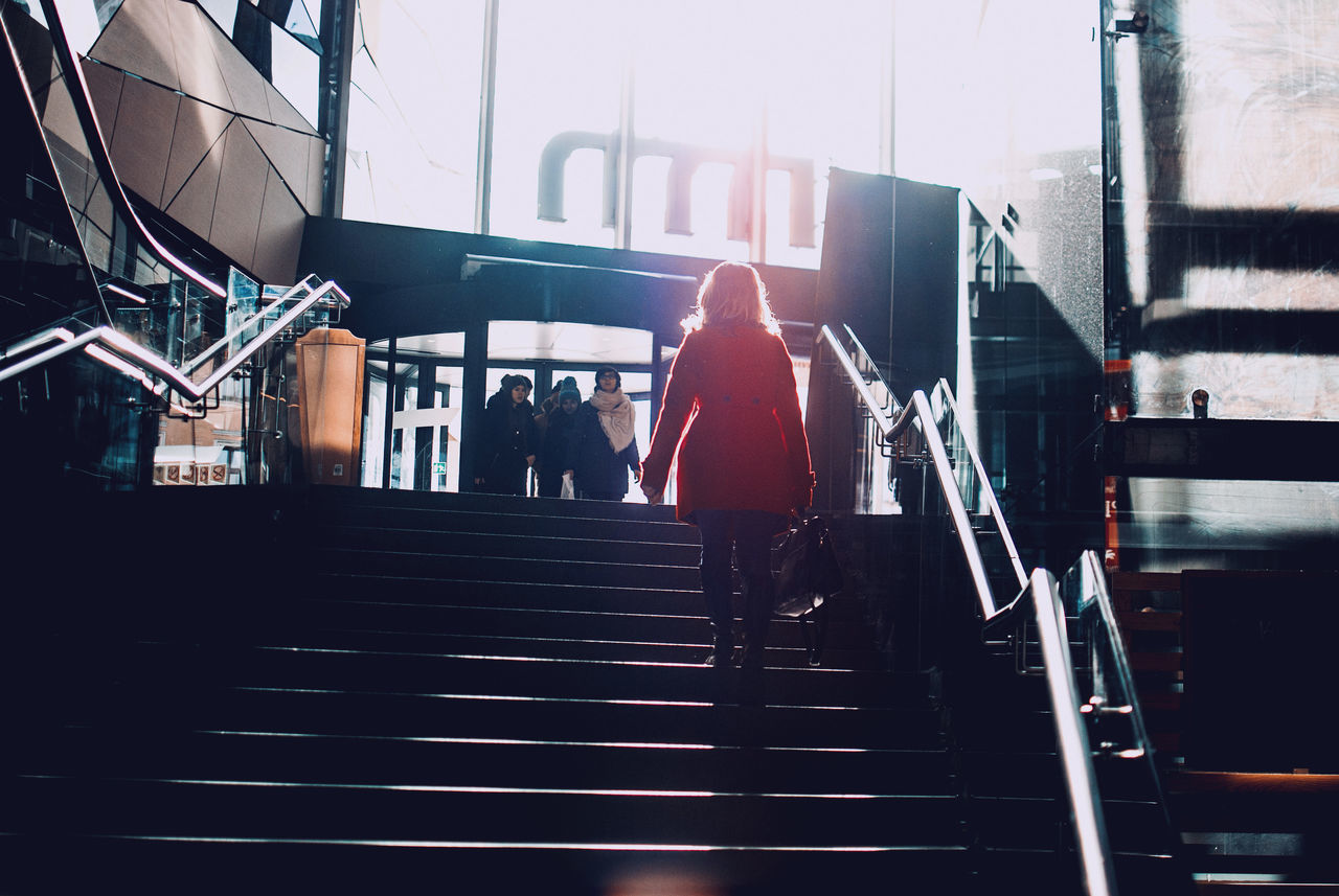 City Discover Your City Hello World Lady Light And Shadow Nikon Shopping Silhouette Stairs The Week Of Eyeem Woman