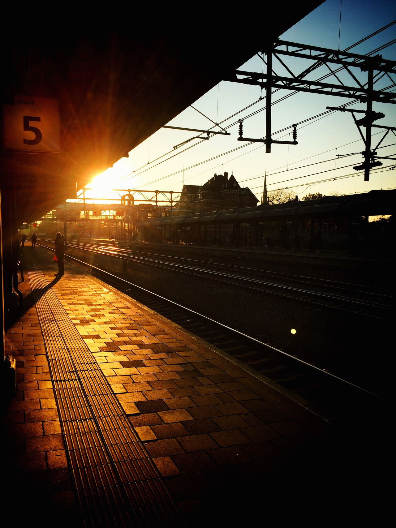 Sunset Woerden Station Woerden IPhoneography Public Transportation Sunsets Train Station Train Iphone6