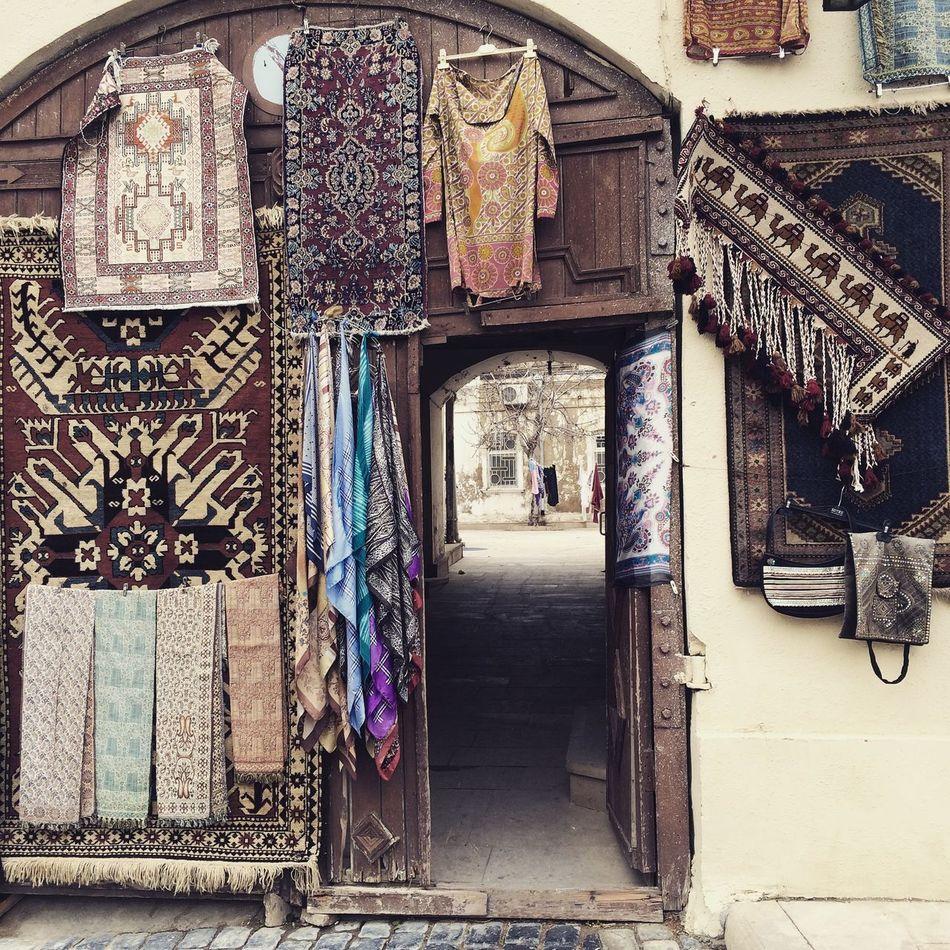 Baku Azerbaijan Souk Market Old City Carpet Handicrafts