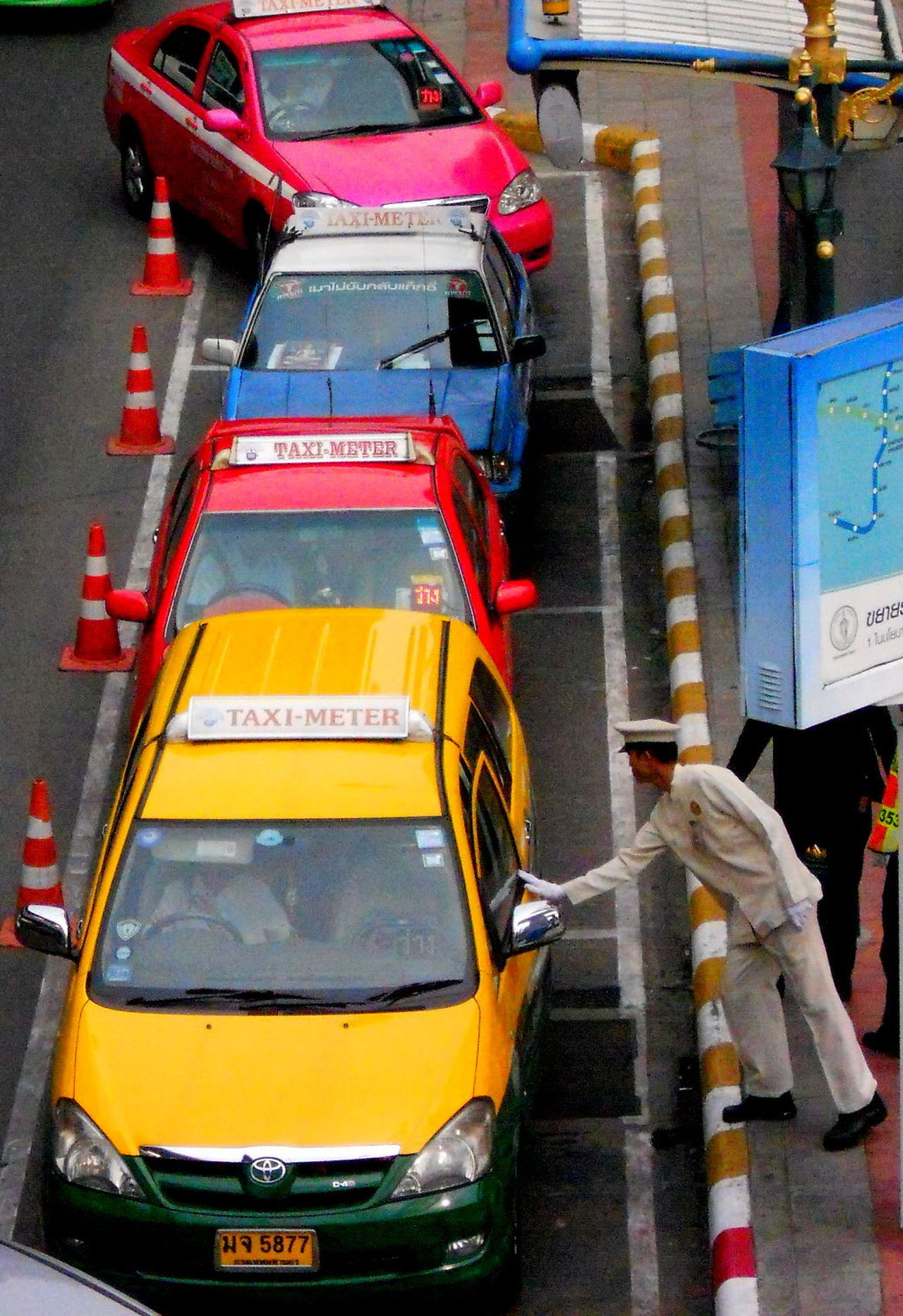 Bangkok Bangkok City Bangkok City Life Bangkok Thailand. City Day Land Vehicle No People Outdoors Street Taxi Taxis Thailand Travel Thailand Trip Transportation Yellow