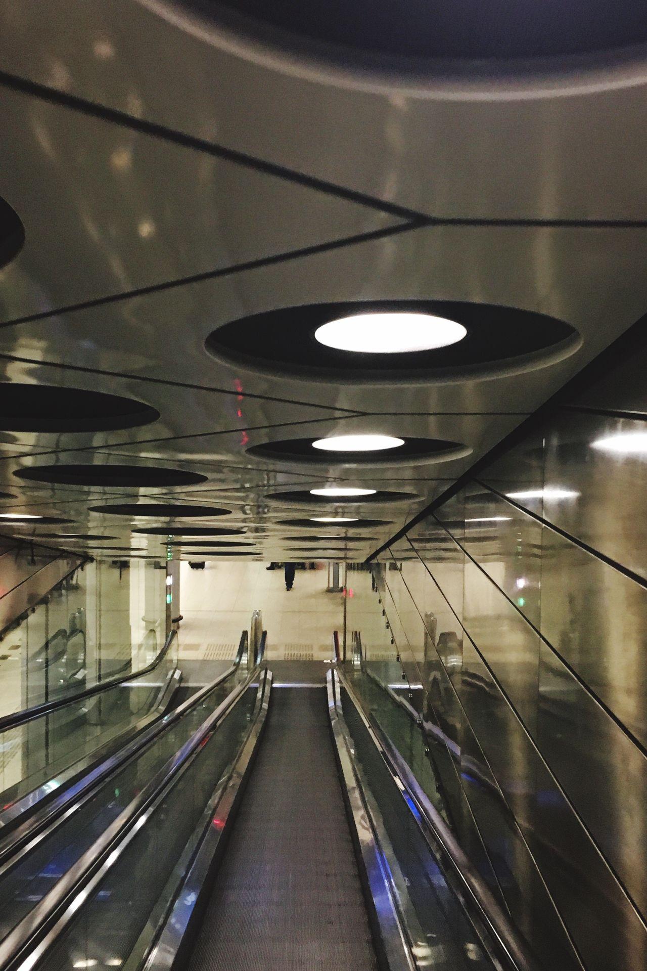Illuminated Lighting Equipment Indoors  No People Night Escalator