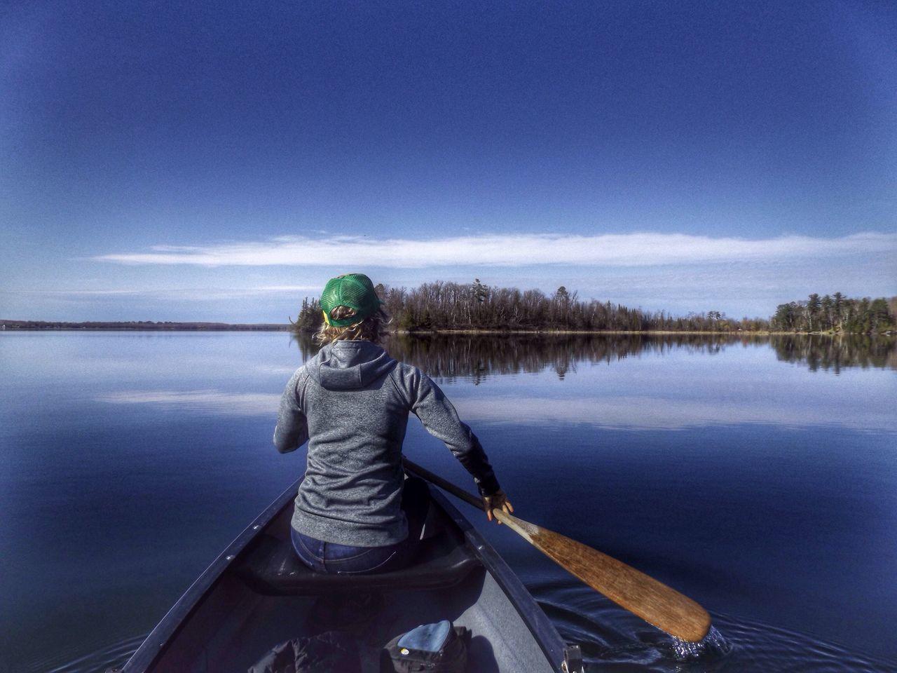 Bemidji Canoeing Paddling Reflections Lake LakeReflection Mysister Calm Glass