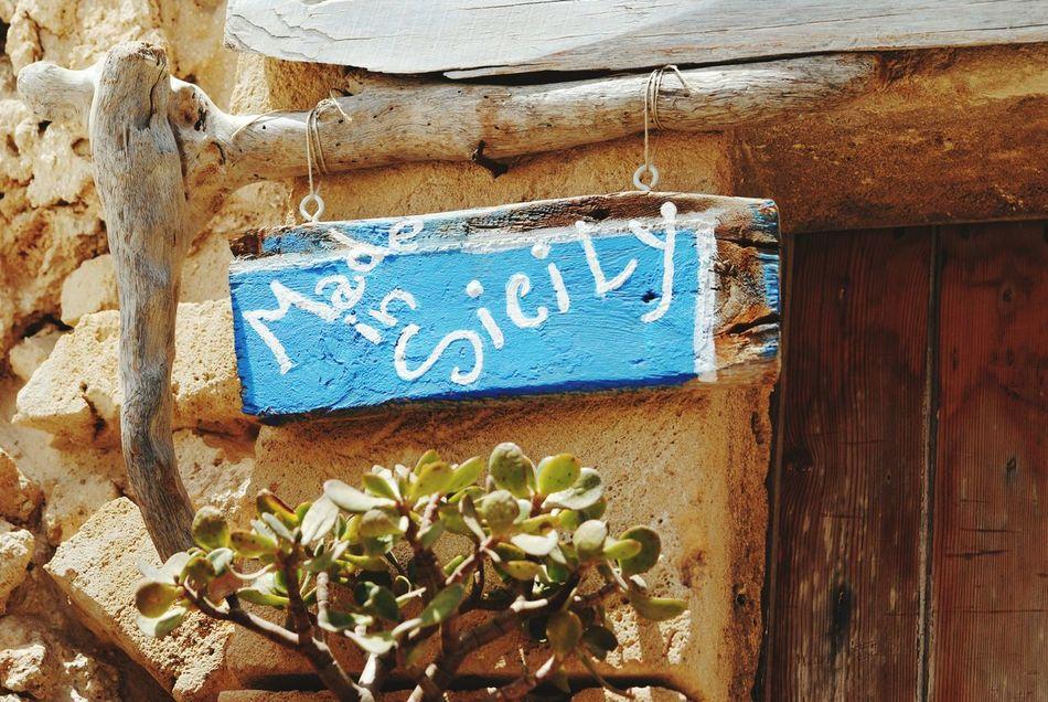 Sicily Cartello Insegna Scritta Made In Sicily