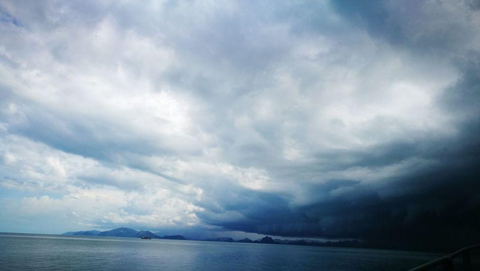 Tranquil Scene Water Sky Sea Scenics Beauty In Nature Cloud Cloud - Sky Ocean Solitude Day Nature Calm Cloudscape Non-urban Scene Ship Sailing Tourism