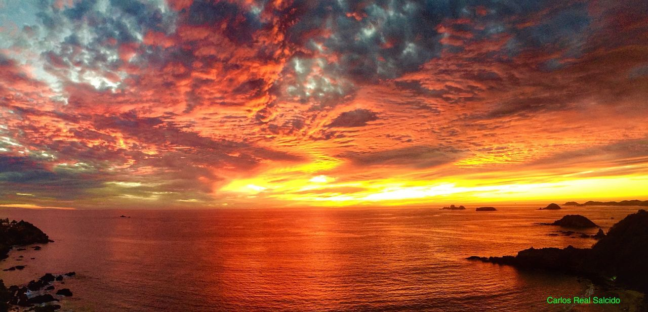 Colour Of Life Sea And Sky Seascape Sea View Ixtapa Ixtapa Beach Orange Color Sunset Sunset #sun #clouds #skylovers #sky #nature #beautifulinnature #naturalbeauty #photography #landscape Trip Trips To Never Forget Trip Photo Rocks And Water