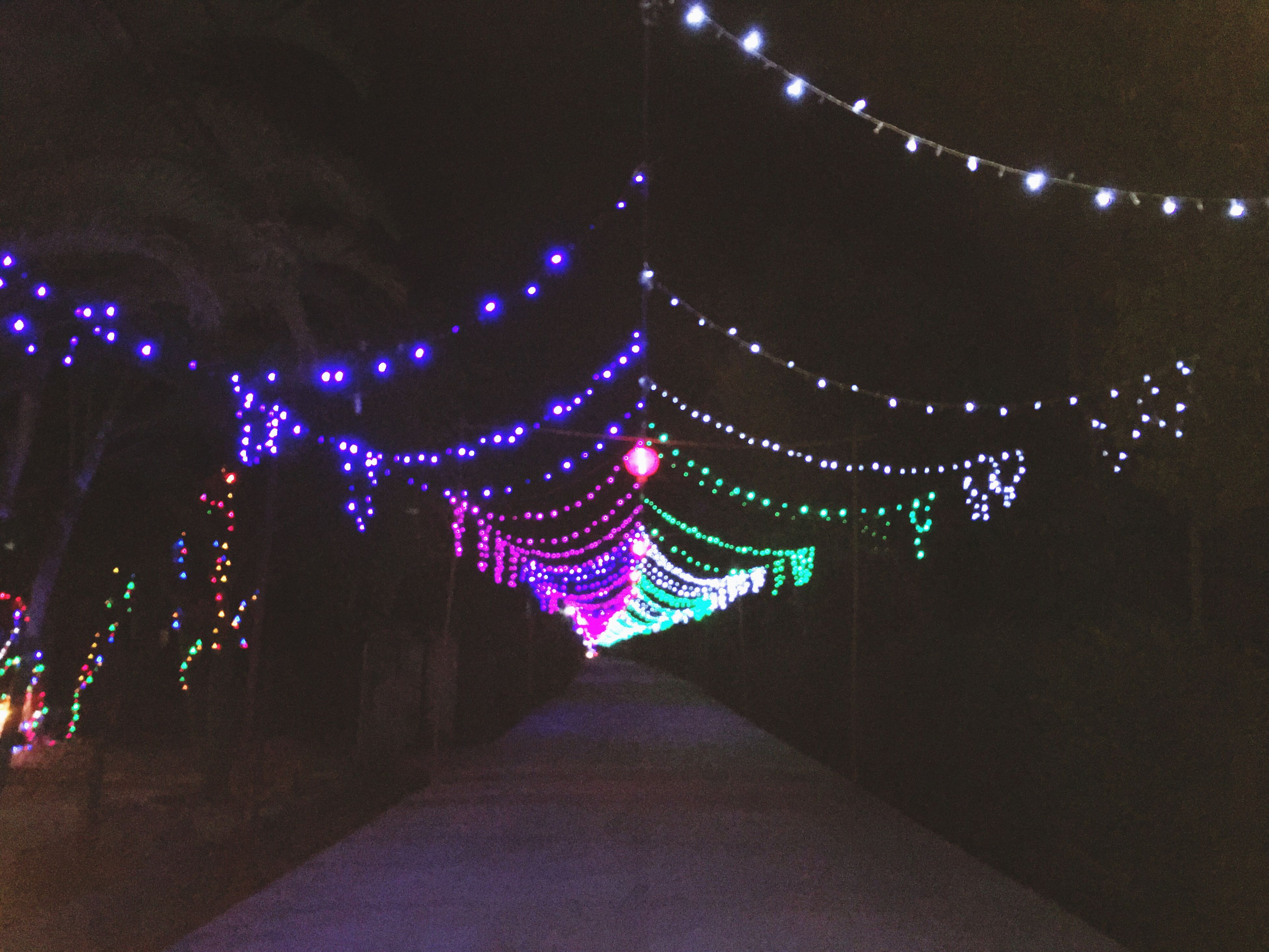illuminated, night, lighting equipment, decoration, multi colored, the way forward, built structure, in a row, architecture, hanging, light - natural phenomenon, diminishing perspective, tradition, indoors, design, pattern, electric light, no people, celebration, cultures