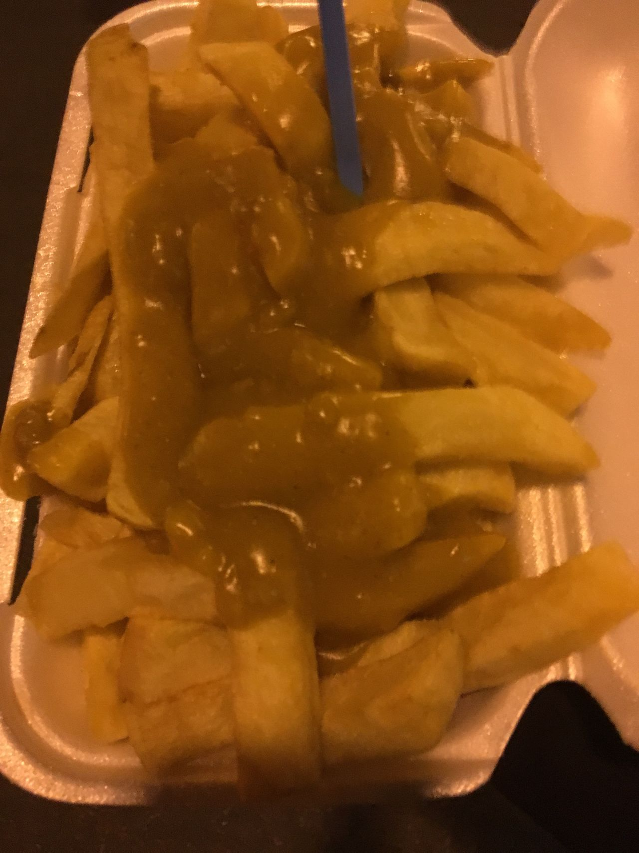 Chips & curry sauce Take Away Food Take Away Chips Curry Sauce Chips And Curry Sauce Chips & Curry Sauce British Take Away Chip Shop Food Chip Shop English Classic