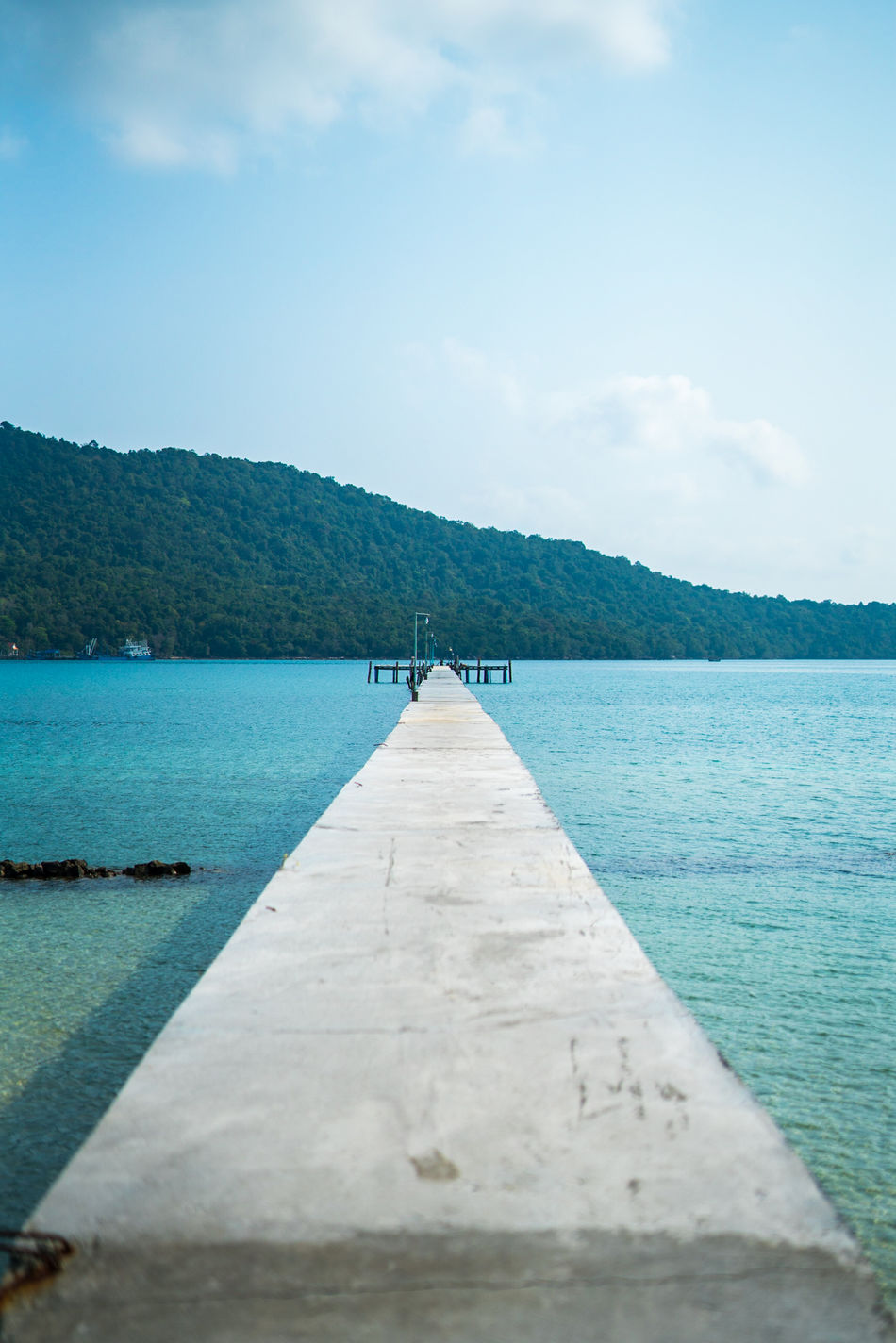 Gotta leave at some point Water Sea No People Nature Blue Scenics Beach Landscape Sky Outdoors Day Beauty In Nature Tree Pier Nautical ASIA Tropical Showcase: April Vacations Cambodia Travel Photography Full Length Front View Nature Horizon Over Water