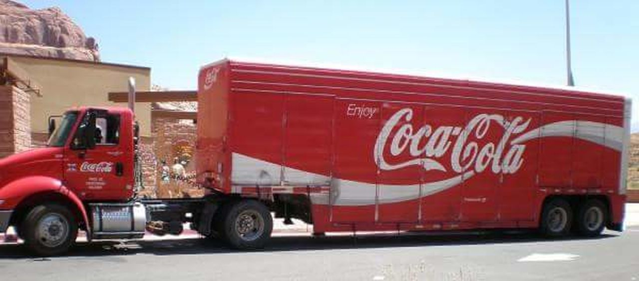 Cocacola Day Drink Drinking Drinks No People Outdoors Red Travel Photography Traveling Truck Trucks