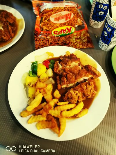 Chicken Maryland for lunch.. Ready-to-eat Chicken Maryland Chicken Meat