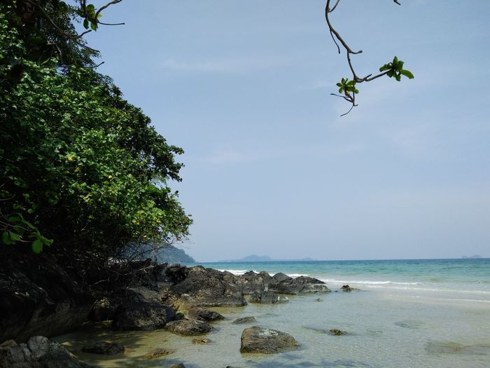 Rock Travel Plant Tree Country Thailand Blue Sky Stone Sea Green Color Thailand Mountain Sea Water Wave Sky Nature Beauty Cloud Old Style Plam No People Landscape Beach