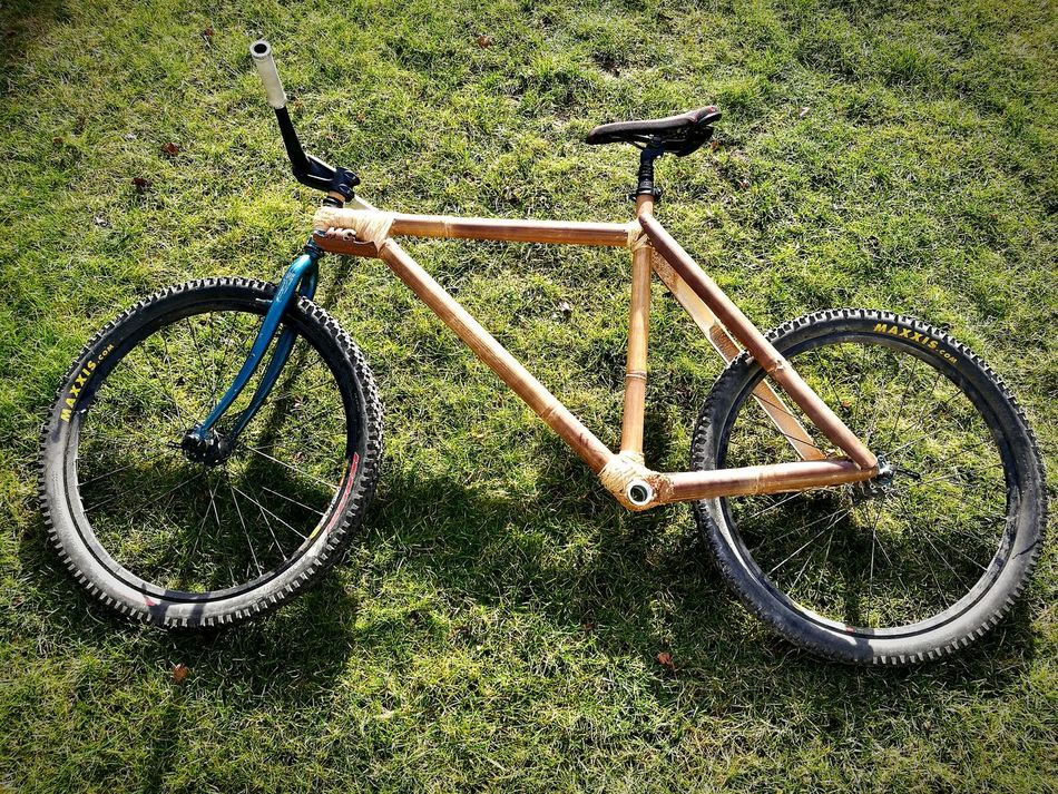 My self made bamboo bike. Almost finished Green Color No People Outdoors Grass Day HuaweiP9 Huwei P9 Huaweiphotography Bike Bikes Bamboo Wood Wood - Material Bamboodesign Bamboo - Material Self Made Self Made!★★ Handwerk Handwerkskunst Lieblingsteil Lieblingsteil Lieblingsteil
