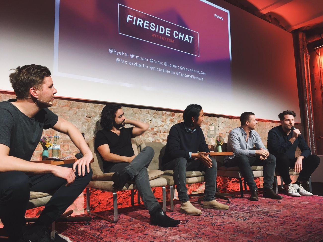 Founder love: It was so lovely to see Flo, Ramzi, Lorenz and Gen all together on stage at Factory Berlin's Fireside Chat last night! ❤