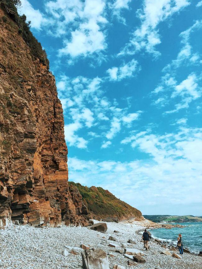 Peachy on the beachy. Sea Tranquil Scene Beach Cliff Coastline Cloud - Sky Beauty In Nature First Eyeem Photo