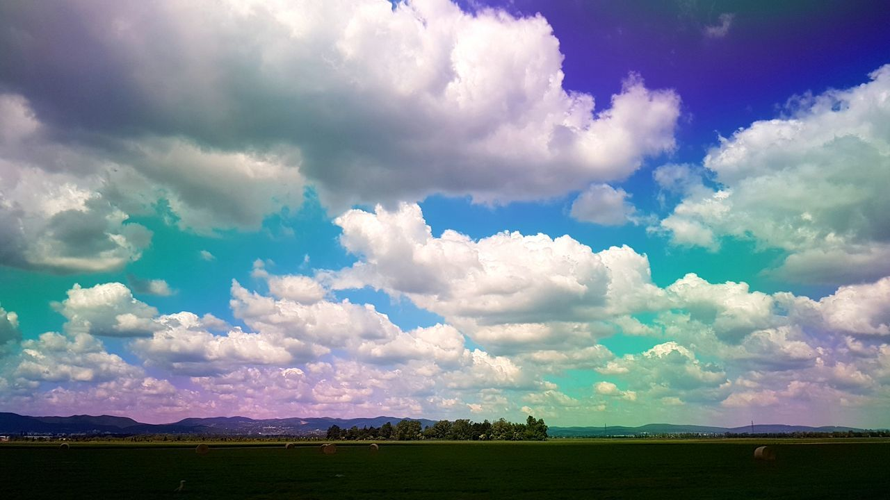 Polarized Effect Multi Colored Nature Landscape Beauty In Nature Scenics Outdoors Cloud - Sky Summer Cloudy Day Sunny Roadtrip Sommergefühle