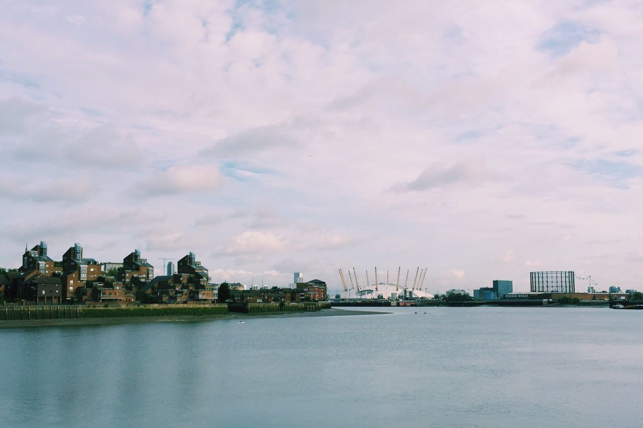 O2 Arena // Southeast London Water Architecture Built Structure Waterfront Building Exterior City River Sky Cloud Scenics Travel Destinations Cloud - Sky Sea Tranquility Distant Nature Wide Shot Wide Day O2 Arena From My Point Of View Outdoors