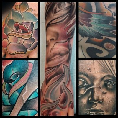 Some recent work I've done. Lately I have been having a blast with some of the things I get to do. @kingpintattoosupply @kingpintattoosupply @neotatmachines