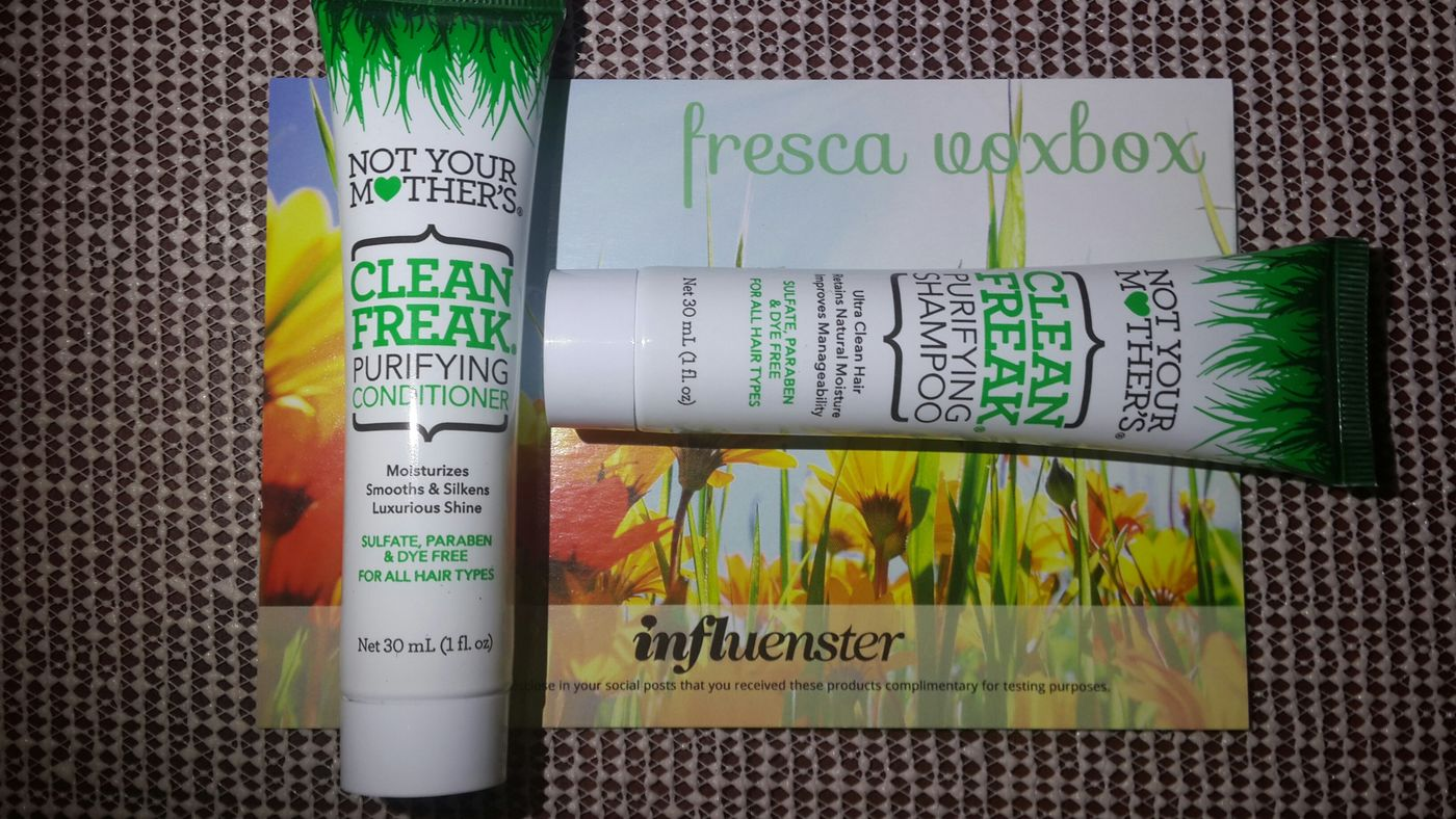 Influenster Notyourmothers FrescaVoxBox Beauty HairCareProducts huele delicioso! Y deja el cabello super manejable <3