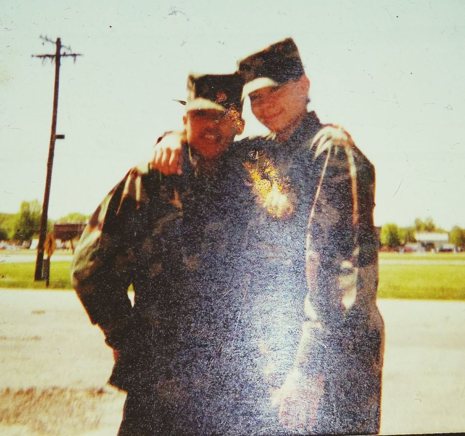 Very Old Pic  Army Soldier Battle Buddy That's Me