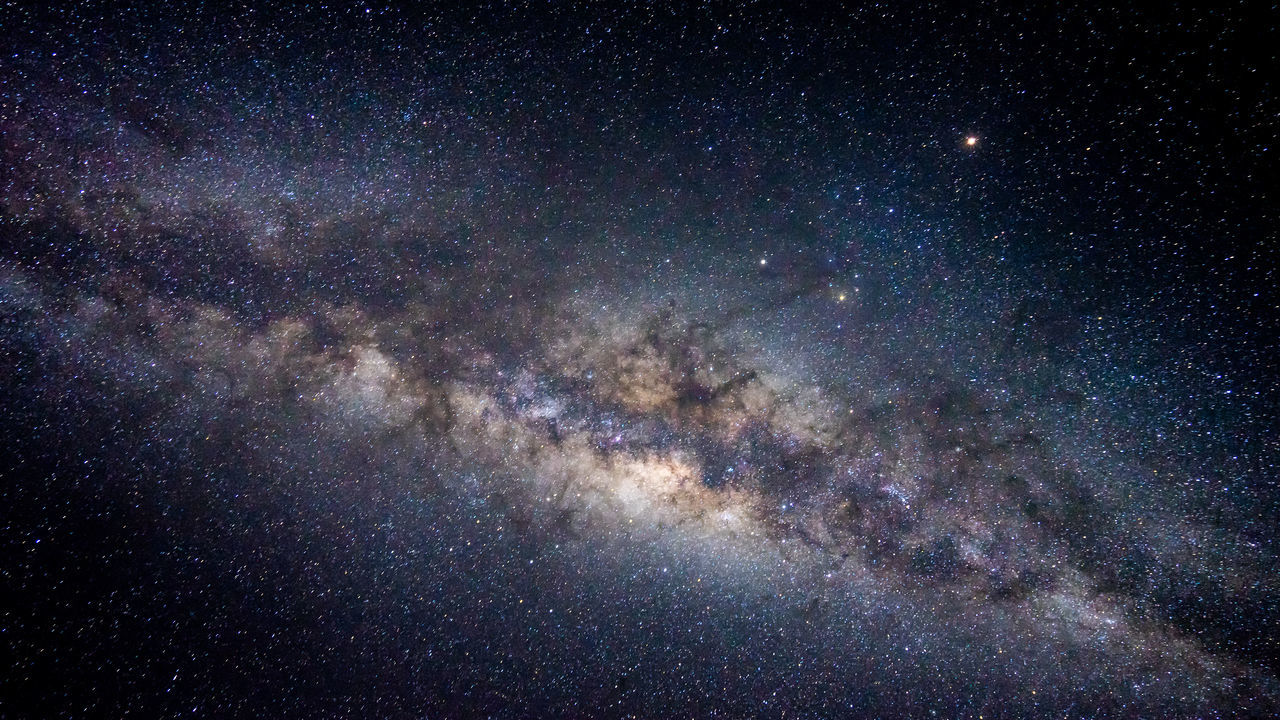 Milky way at the night Astronomy Constellation Galaxy Landscape Milky Way Nature Night No People Outdoors Planet - Space Planet Earth Science Sky Space Star - Space