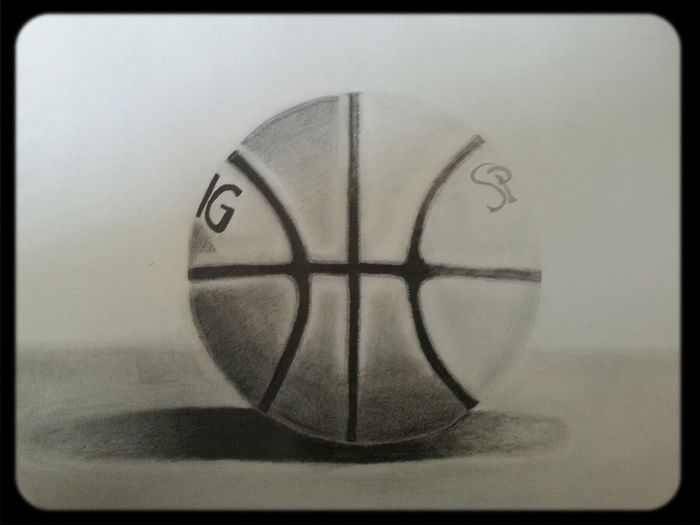 My drawing of a basketball!