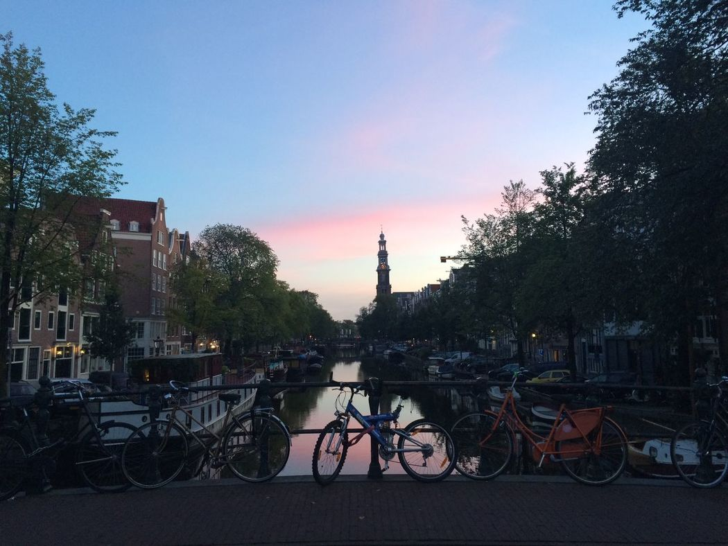 OnMyBike In The Early Morning Streetsofamsterdam Amsterdam