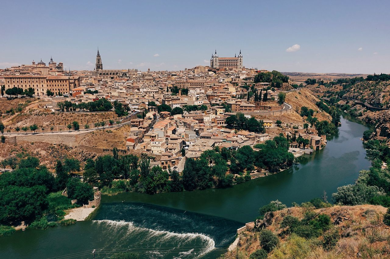 Golden City//. Architecture Building Building Exterior City Cityscape Gold Historic Historical Building History Horizontal Landscape Nature Old Old Town Outdoors River River View Riverside Sky SPAIN Summer Travel Travel Destinations Tree Water