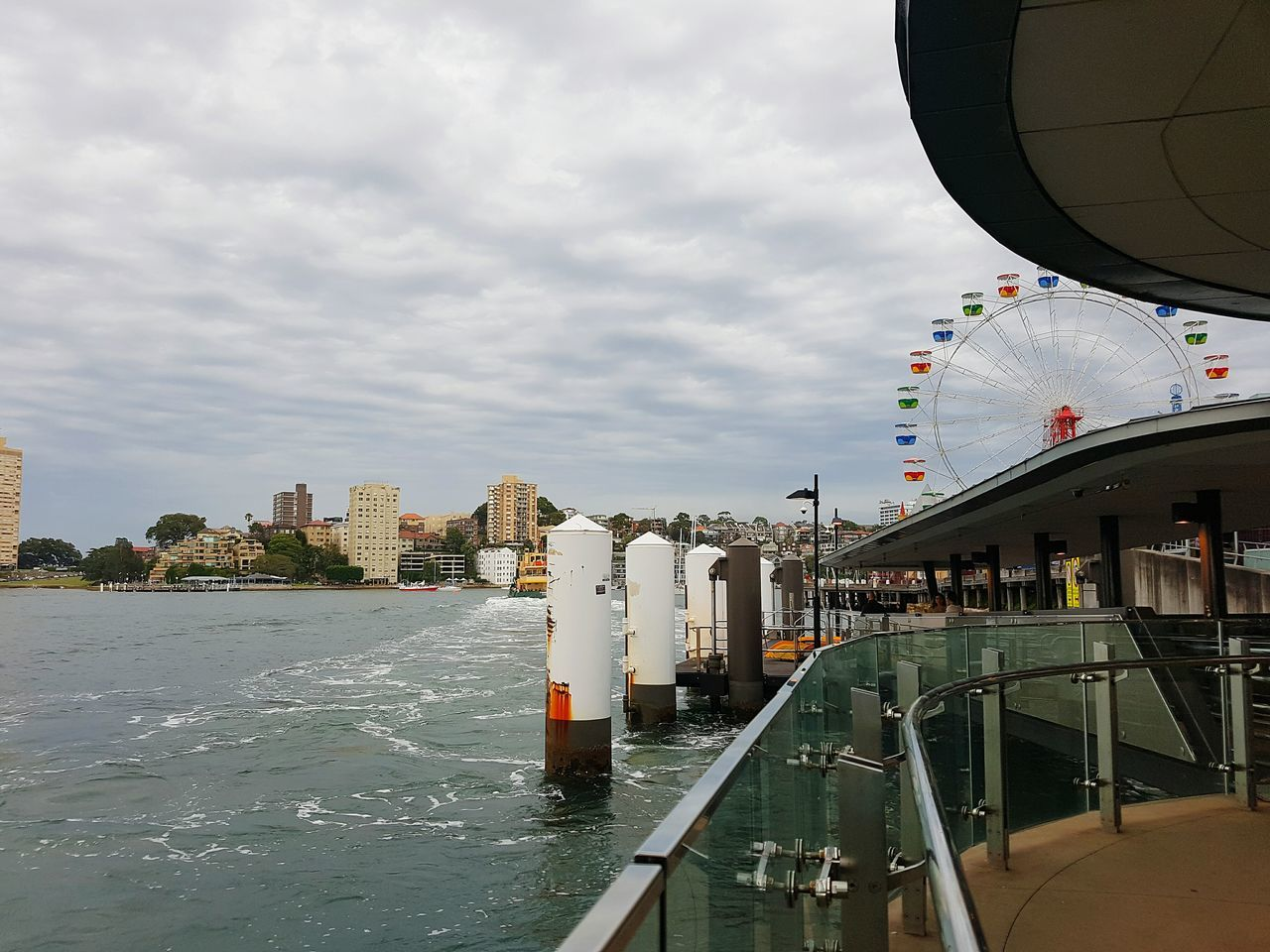 Waiting for Ferry Architecture Cloud - Sky City Building Exterior Outdoors Urban Skyline Water Built Structure Bridge - Man Made Structure No People Day Coming Home For Christmas Traveling Home For The Holidays Mobilephotography Samsung Galaxy S7 Luna Park Sydney Sydney, Australia Ferris Wheel