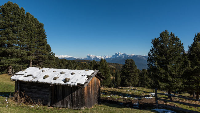 Alpine Autumn Blue Sky Clear Sky Dolomites First Snow Forest Green Hiking Hills Holiday Landscape Mountains Nature Outdoor Tirol  Tranquil Scene View