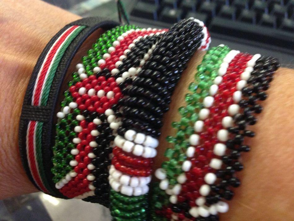 Beads Bracelet Close-up Fashion Jewelry Kenya Kenya Flag Multi Colored No People