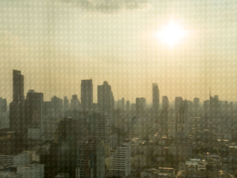 Abstract Architecture Background Bangkok Blind Blury Background Building Building Exterior Built Structure City Cityscape Curtain Flare Landscape Look Through Residential District Sky And Clouds Skyscraper Still Life Sunset Tall - High Top View Tower View Window