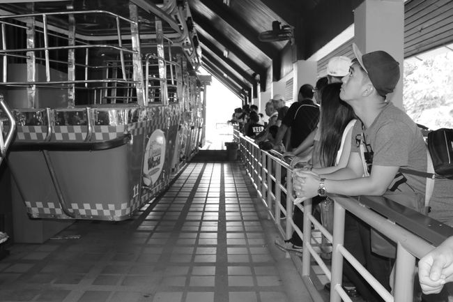 Adult Blackandwhite Cable Car Day Indoors  Men People Person Real People Togetherness Two People