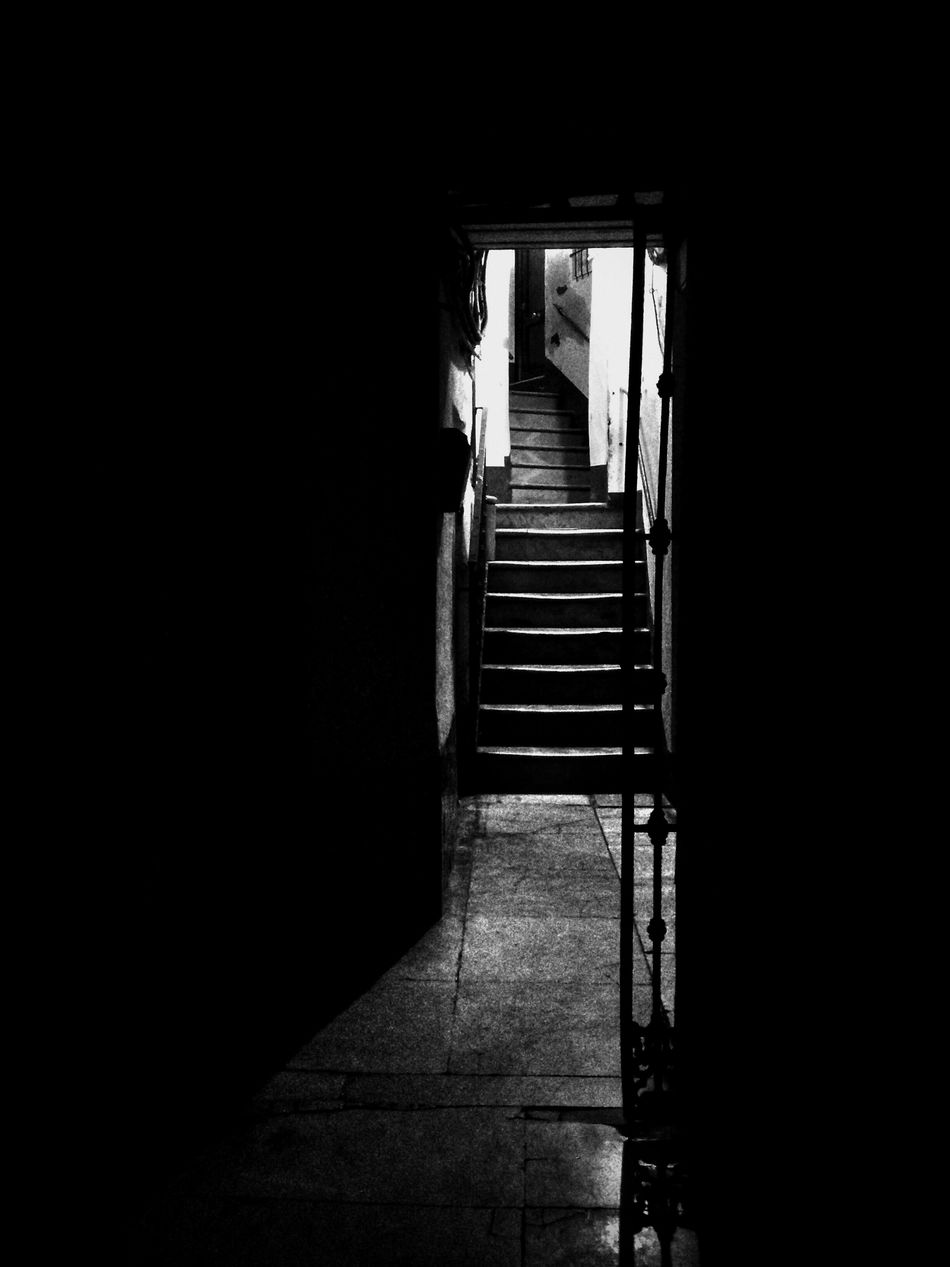 Blackandwhite Staircase Light And Shadow Way To Go Home Entrance