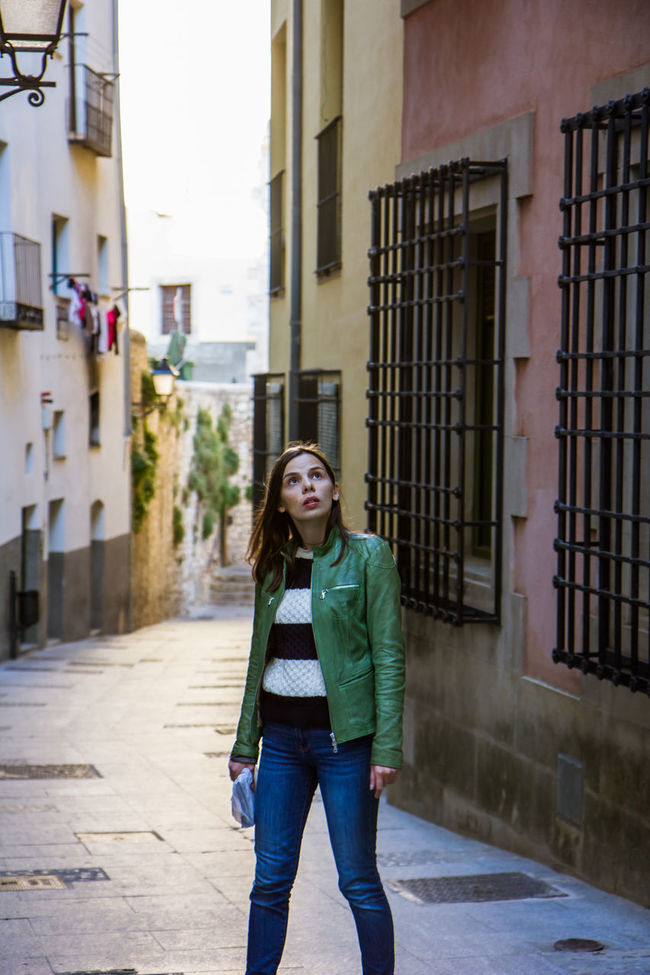 Alley Alone Building City Life Fashion Girl Leisure Activity Lifestyles Narrow One Person Outdoors SPAIN Street Streetphotography The Tourist Travel Traveling Walking Walking Around Wall Woman