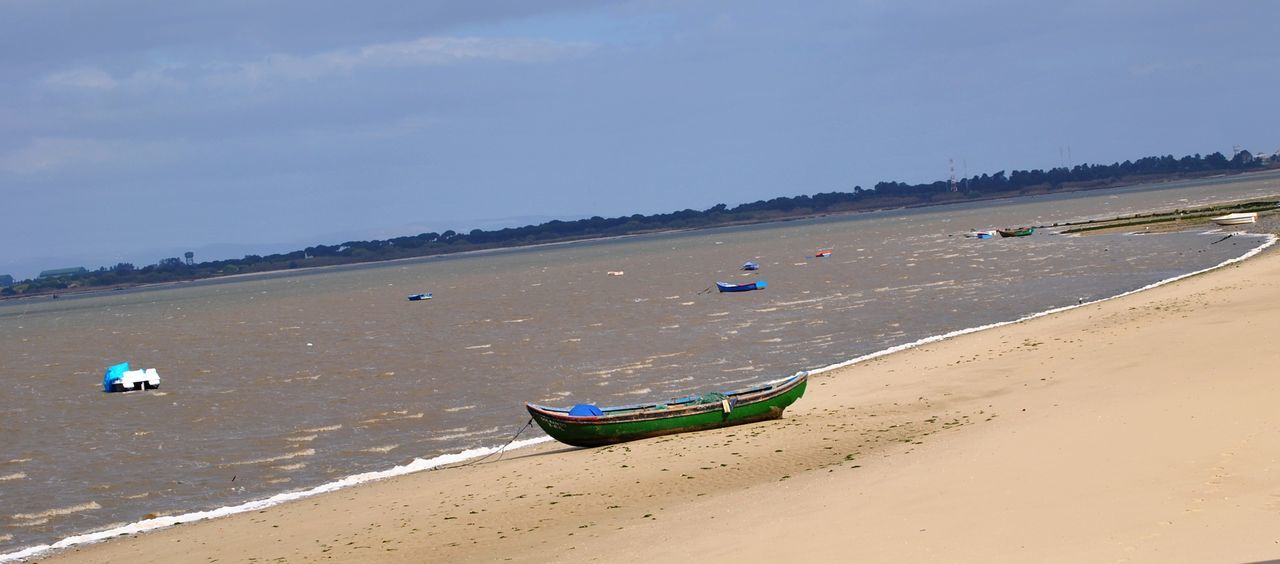 Nautical Vessel Beach Nature Sea No People Natureza ☀⭐🍂🍀🌹😍❤ Praia Barco Natureza Water Portugal Rosario Rosário-Moita Moita