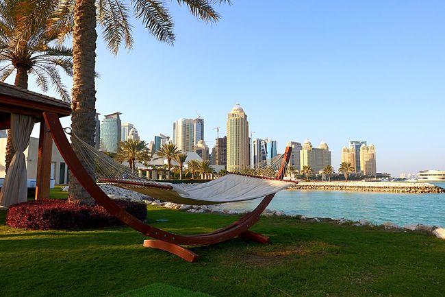 Sheraton Hotel Doha,Qatar Qatarlife Qatar Doha#City#❤ Doha Ooredoo Relaxing Sea Bluesky