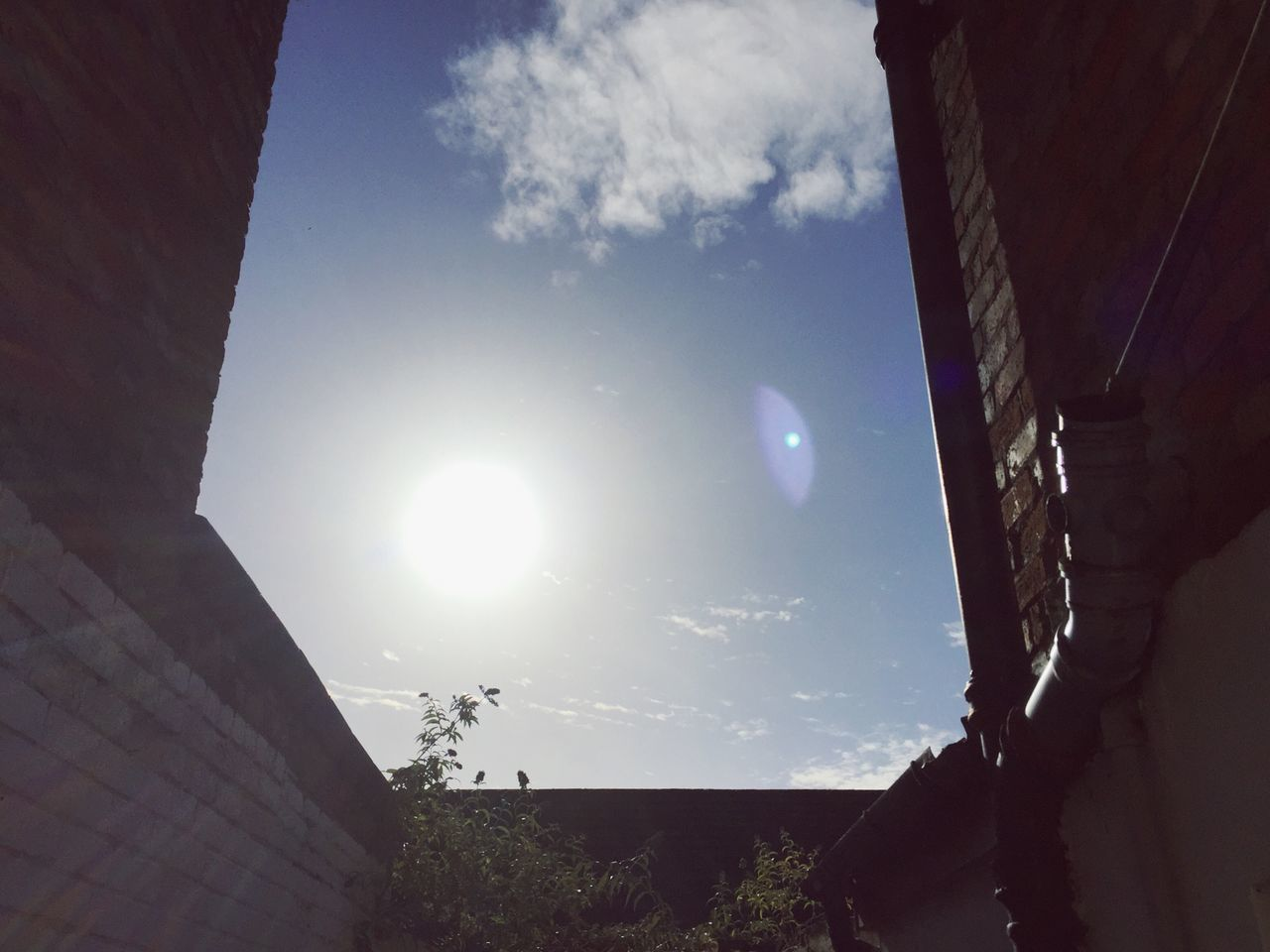 Nach dem Regen kommt die Sonne. Belfast Northern Ireland Sunshine Hope Optimism Optimistic New Beginnings Sun Architecture Blue Sunny Lens Flare Sunbeam Bright Built Structure House Courtyard  Day New Day Travel Happy