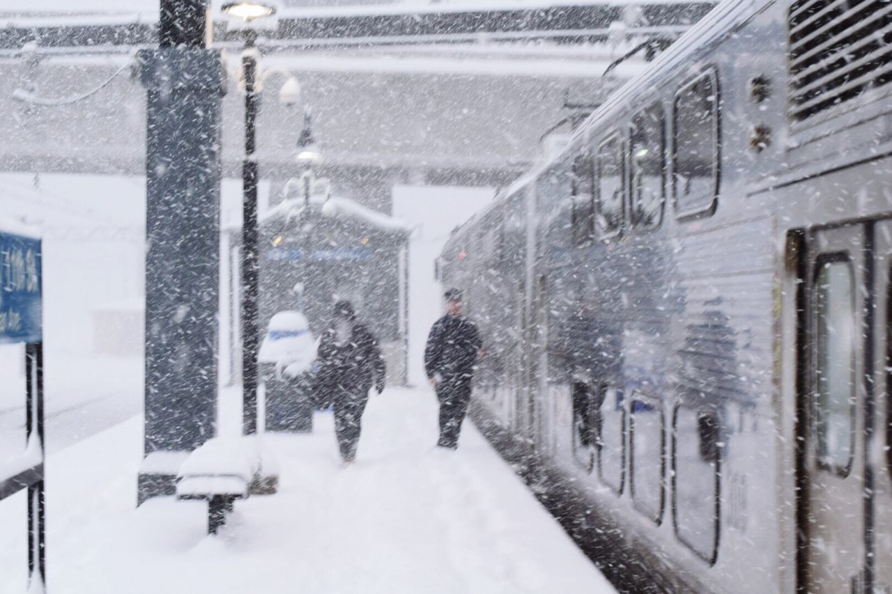 Snow Winter Cold Temperature Snowing Real People Walking Transportation Chicago City Life Frozen The Street Photographer - 2017 EyeEm Awards Neighborhood Map Train Station Train