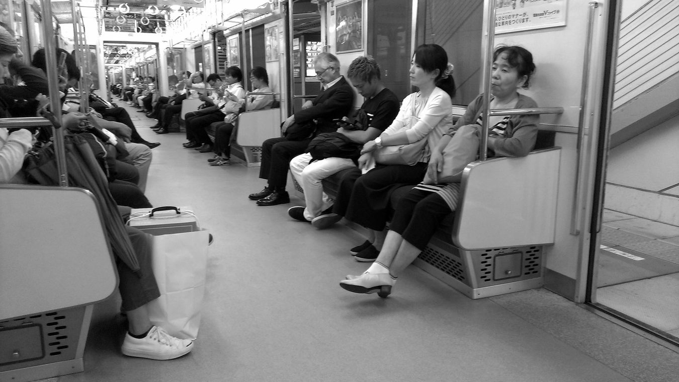 Commuting train Sitting City Front View Person City Life Blackandwhite Photography Black And White MonochromePhotography Monochromatic Monochrome Black And White Collection  Blackandwhitephotography Black&white Black & White Blackandwhite City Street Fukuoka,Japan Station Train City Life Train Streetphotography_bw Streetphotography