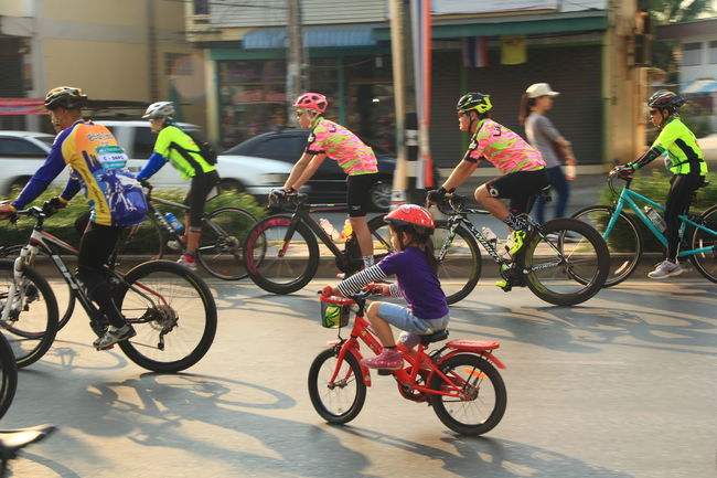 Bicycle Race Capturing Motion Race Racing Sport Bicycle Young Kid Adult Drive Driving Activity Motion People Go Together Road Route Travel Voyage Way Vehicle Communication Outdoor Outside