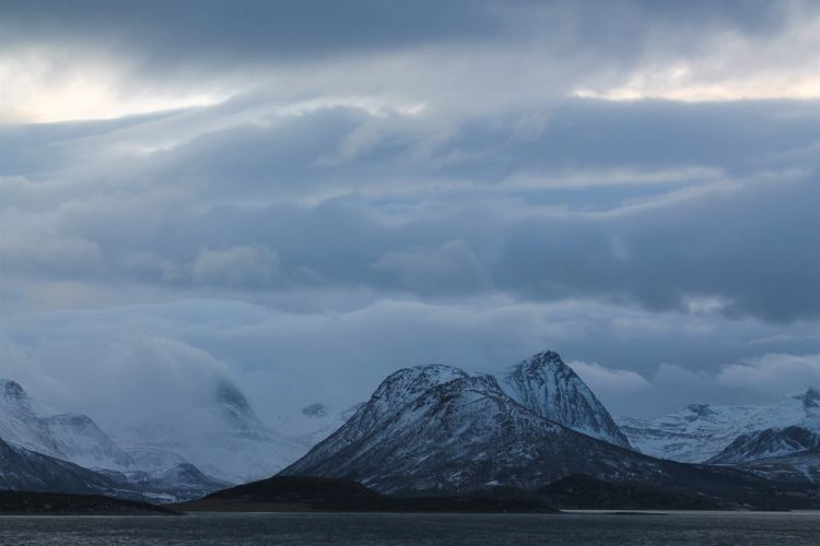 Norway Beauty In Nature Cloud - Sky Cold Temperature Day Glacier Landscape Mountain Mountain Range Nature No People Norway Nature Norwaynature Outdoors Scenics Sky Tranquil Scene Tranquility Water