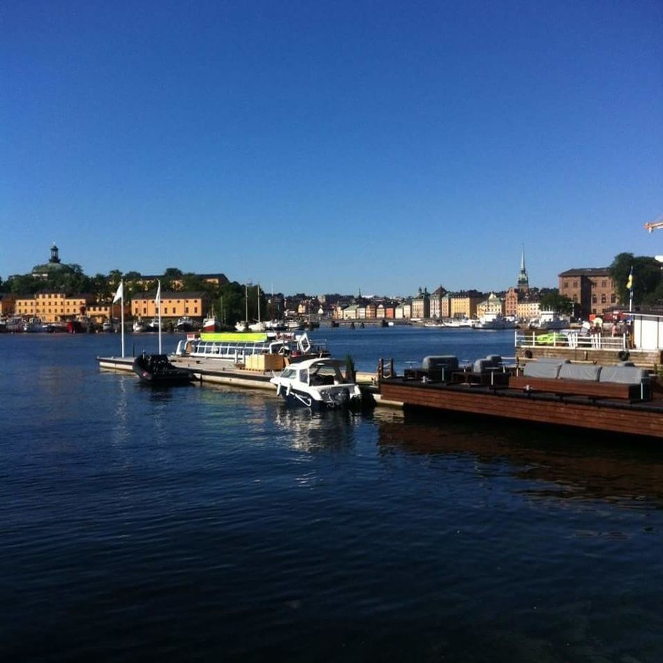 Raw picture of beautiful Stockholm. Water Outdoors City Boat Sweden-landscape