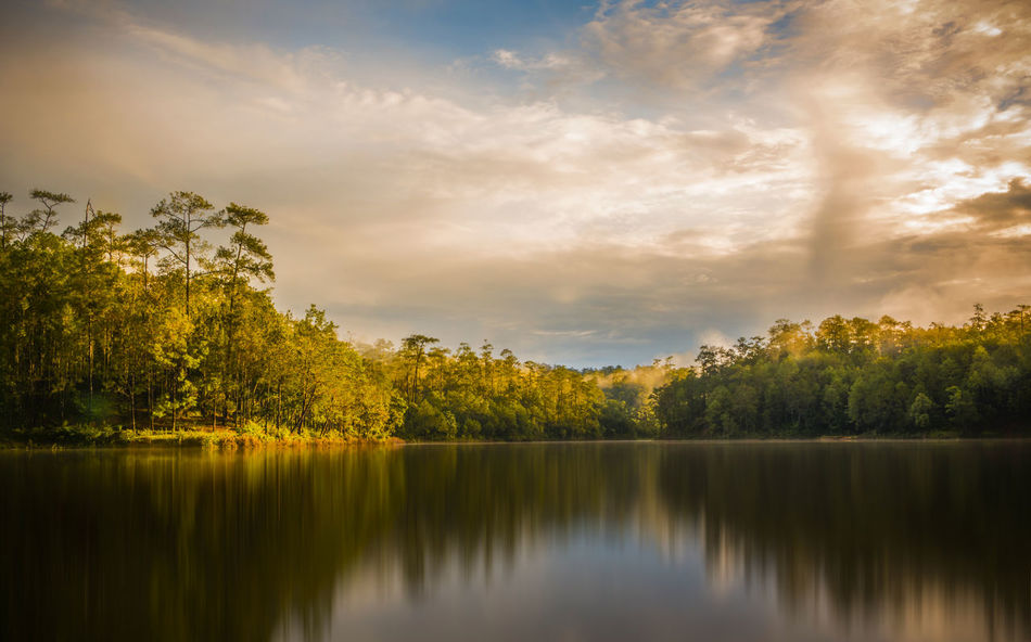 Adventure Backgrounds Chiang Mai | Thailand Extreme Weather Forrest Hilight Lake Landscape Meahongson Multi Colored Natural Parkland Nature Outdoors Painting Reflection Reflection Lake Sky Sunset Tourism Travel Tree Water