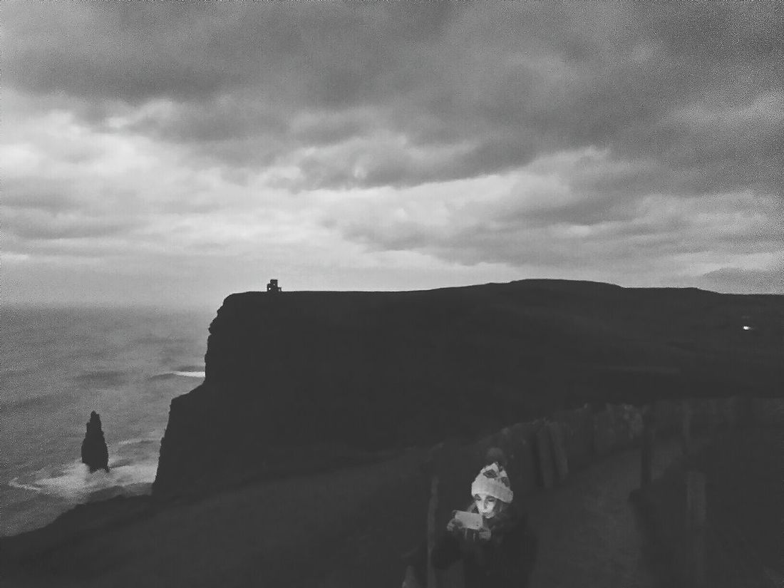 Cliffs Of Moher  Clare Ireland On The Edge Black And White Eyeem Ireland