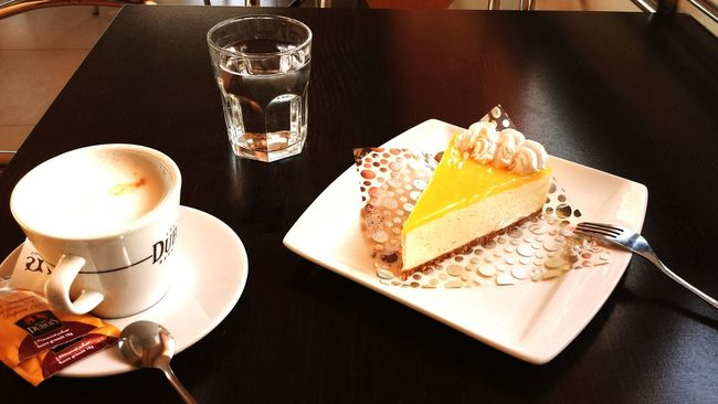 Coffee ☕ Oujda City, Morocco Alone Delicious Tarte Au Citron Lemon Degustation best moment of the day