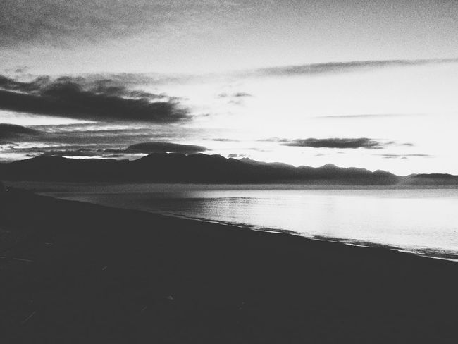 Black dusk Atmospheric Mood Beach Beauty In Nature Calm Nature Non-urban Scene Outdoors Sea Shore Silhouette Sky Tranquil Scene Tranquility Water The Great Outdoors - 2017 EyeEm Awards